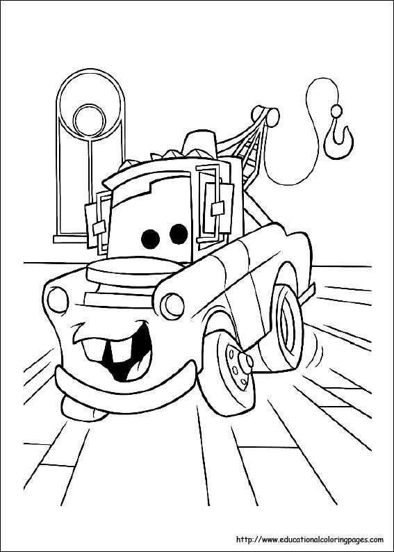 無料ディズニーピクサーカーズcars車のぬりえ塗り絵画像