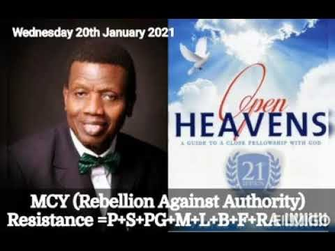 Open Heaven 20 January 2021 – MCY: Rebellion Against Authority