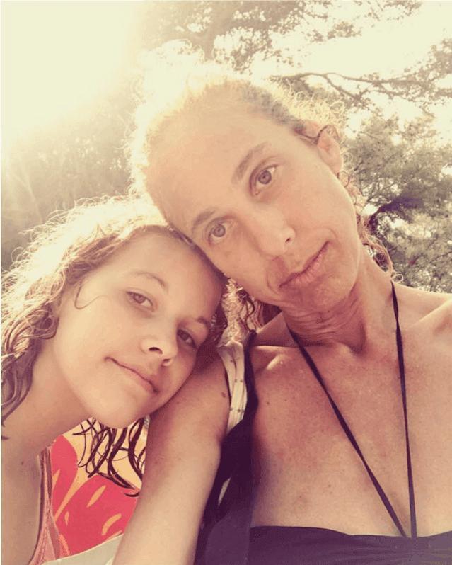 Zoe Adlersberg - with daughter Uma, summer spent in Ibiza