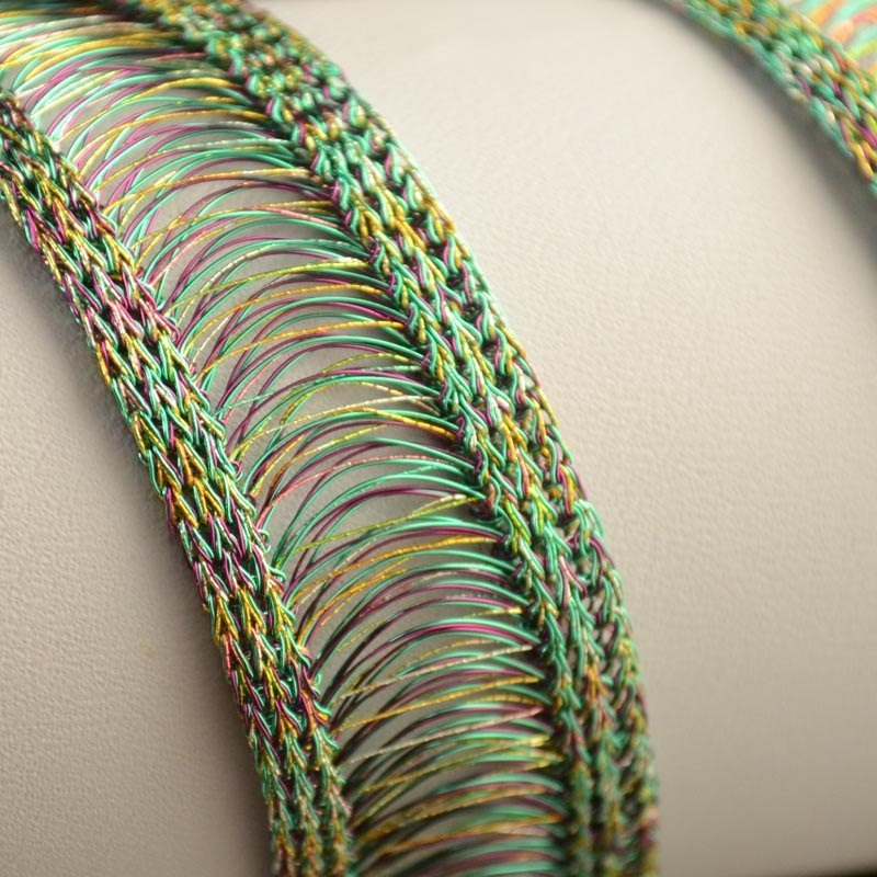 s35275 Woven Wire - 20 mm WireLuxe Wire Ribbon - Meadow (24 inches)