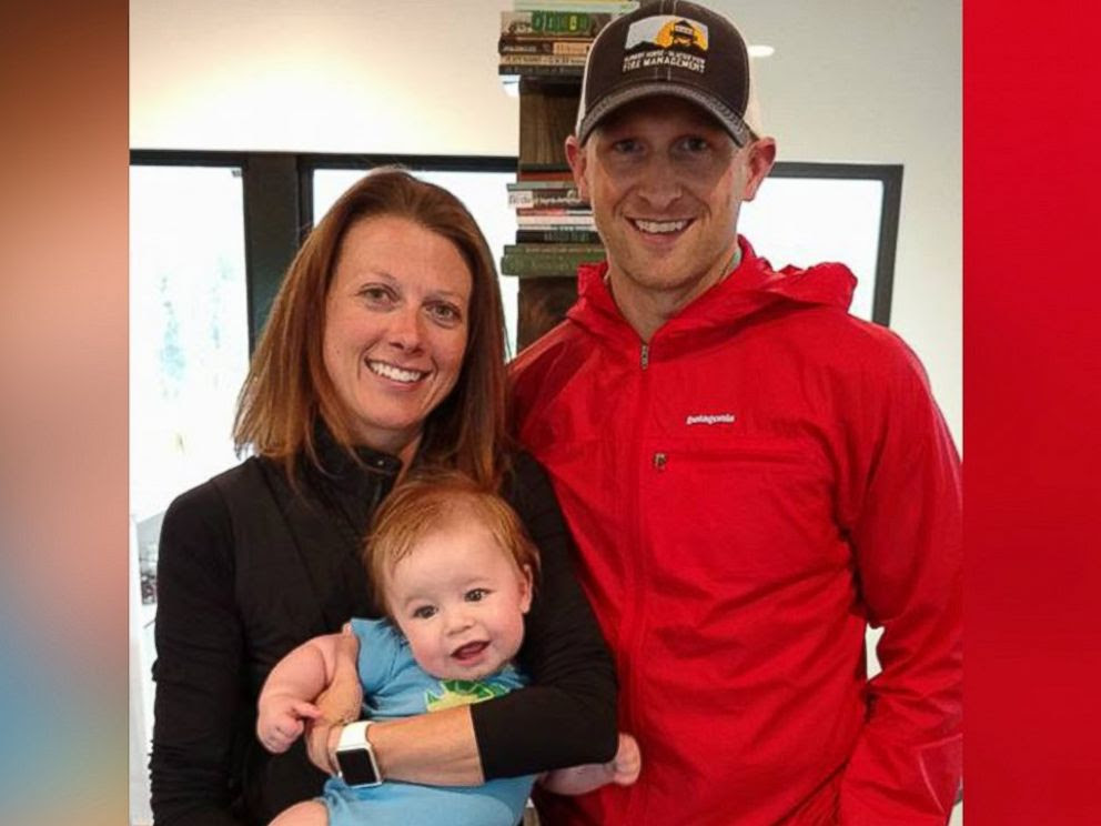 PHOTO: Brad Treat, 38, pictured here with his wife Somer Treat and their nephew in an undated photo, was killed in a bear attack on U.S. Forest Land in Montana on June 29, 2016.