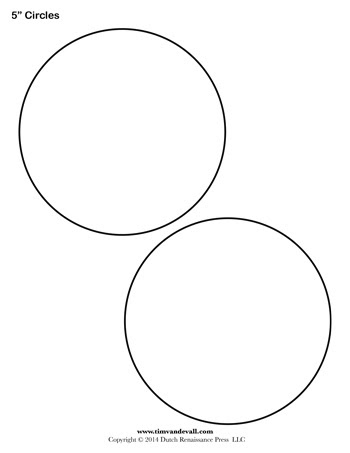 5 Inch Circles Blank 350