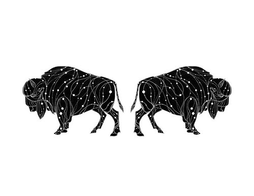 Black and Gold -The Bison Constellation by Alexander Beeching via 20x200