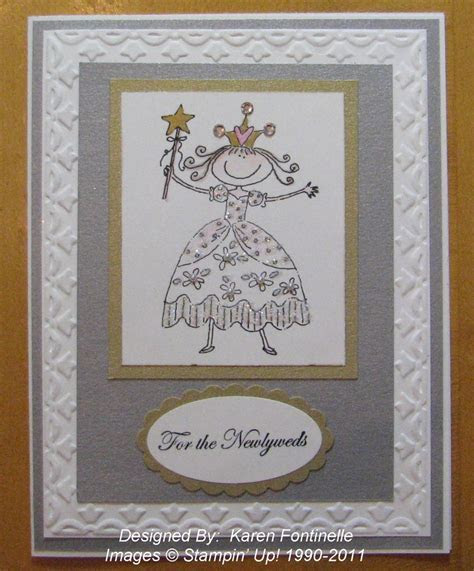 A Stampin? Up! Wedding Card for a Princess   Stamping With