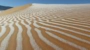 Sahara desert: Rare snowfall leaves extraordinary pattern on sand dunes