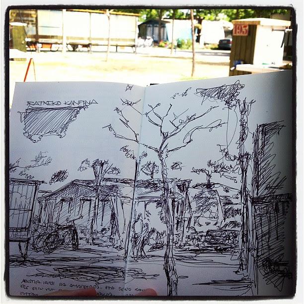 Camping sketching
