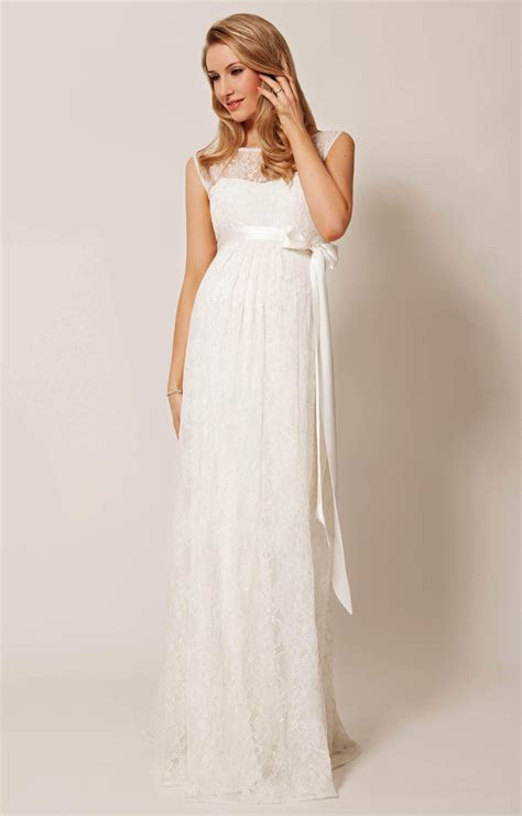 Ellie Maternity Wedding Gown Long Ivory   Maternity