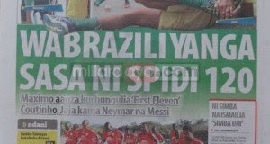 Magazeti ya leo Jumapili July 20 2014