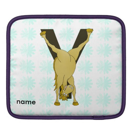 Pony Y Personalized Monogram Sleeves For iPads