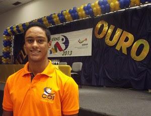 João Paulo Coutinho, Atleta Ouro nos Jern's 2013 (Foto: Klênyo Galvão)