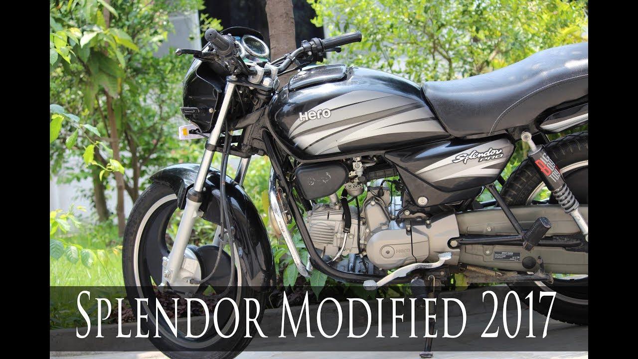 Hero Splendor Modified 2017 Sports Bike E Bike Youtube