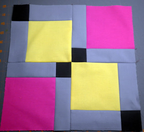 Fourth Inning - Block 5 - Patchwork Squared Modern Solids Quilt Along