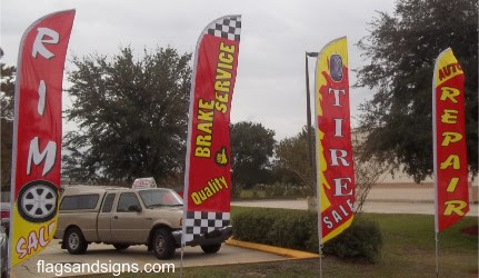 Auto Car Service Business Swooper Feather Flags Signs