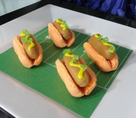 April Fools' Day candy hot dogs perfect for Super Bowl