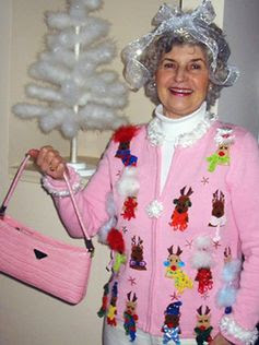 ugly holiday sweaters reindeer grandma