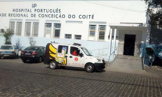 Vítima foi socorrida e levada para o Hospital Português, onde foi medicada e, em seguida, liberada | Foto: João Wilson/Notícias de Santaluz/Arquivo