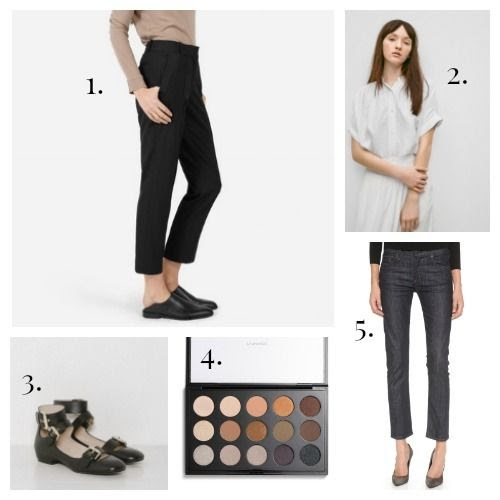 Everlane Trousers - Wilfred Blouse - See by Chloe Flats - MAC Eyeshadow - Citizens of Humanity Jeans