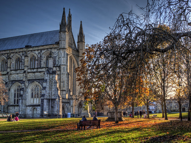 Late Autumn in the grounds of Winchester Cathedral