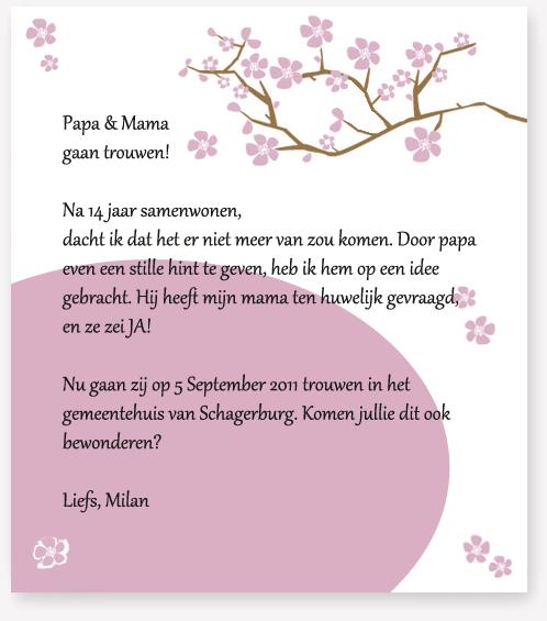 Gedichtje Voor Op Een Huwelijkskaart Wenskaart 2019