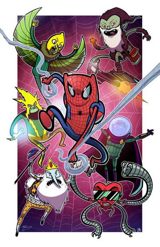 Spider-man versión Hora de Aventuras
