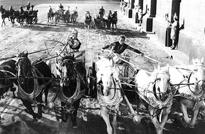 A scene from the  film Ben Hur