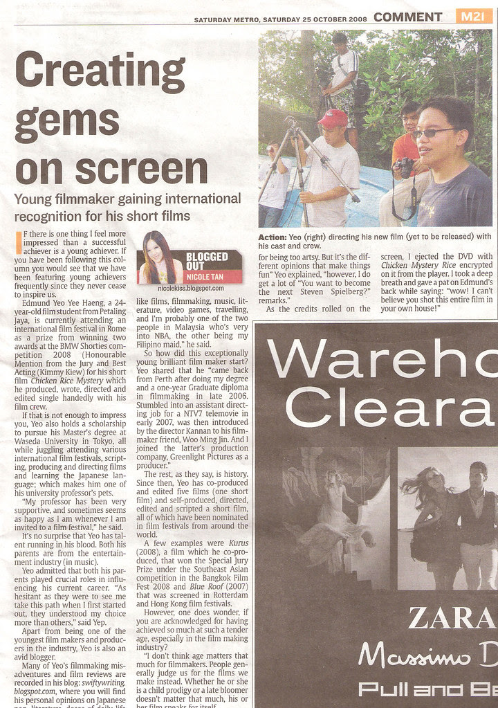 Creating gems on screen (The Star Column on 25th of October, 2008)