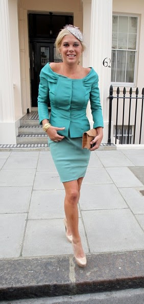Chelsy Davy Chelsy Davy, girlfriend of Prince Harry, leaving her house dressed in a blue Alberta Ferreti skirt, for the wedding of Prince William and Catherine Middleton. She will reportedly be accompanying Prince Harry to the Royal Wedding.