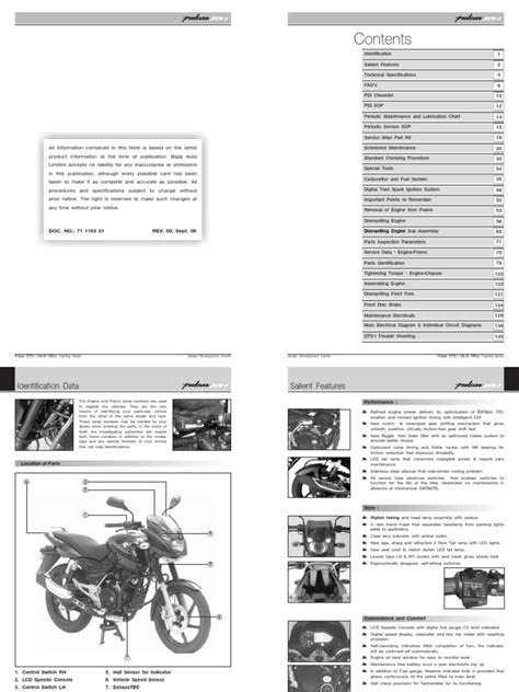 Service Manual Bajaj Pulsar 220 | Motor Oil | Throttle
