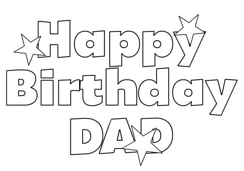 Happy Birthday Coloring Pages Download