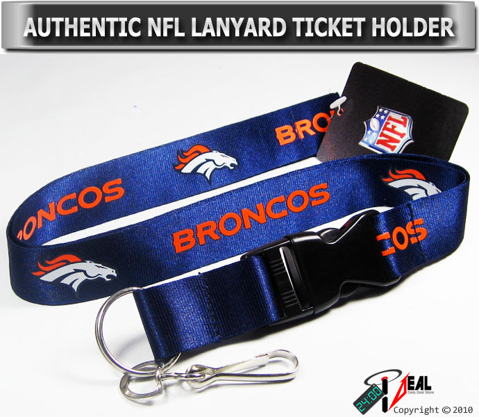 NFL DENVER BRONCOS OFFICIAL LANYARD KEY CHAIN ID HOLDER BLUE  eBay