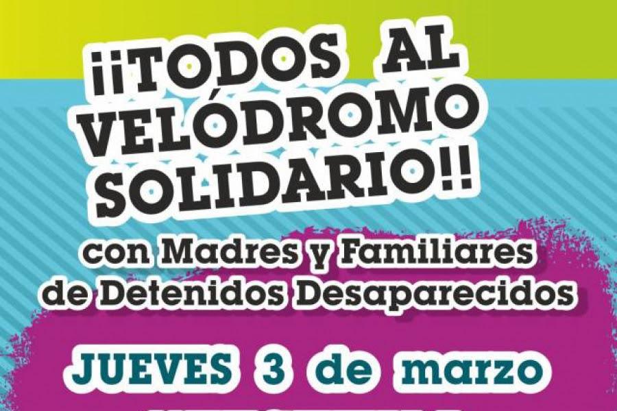 A llenar el Velódromo en festival solidario con Madres y Familiares de Uruguayos Detenidos Desaparecidos