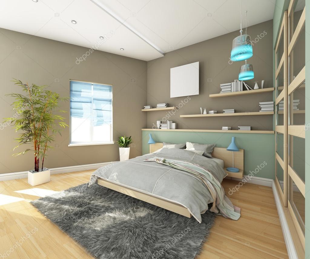 Teens Bedroom With Grey Carpet — Stock Photo © krooogle ...