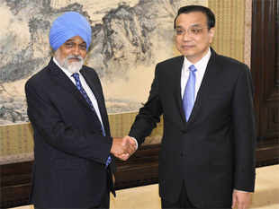 Indian railway construction is expected to showcase China-India cooperation, state-run China Daily quoted officials as saying after Ahluwalia's meeting with Li.