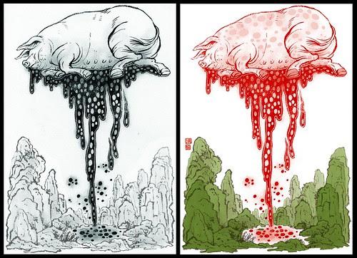 Life and Death Wear (drawing and final) - Yuko Shimizu