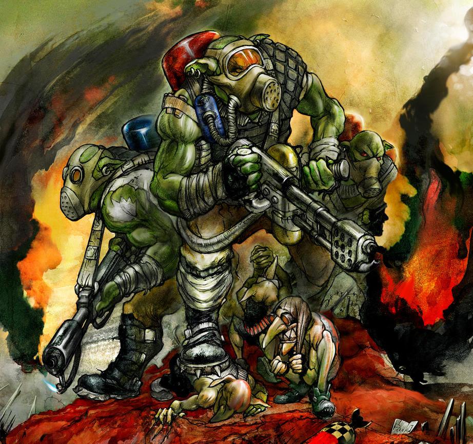 Warhammer 40k: Burna Boyz by Peter1punk