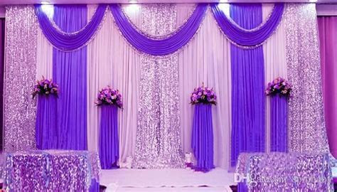 High Quality Wedding Backdrop Curtain Sequined Cheap