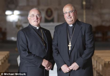Bishop Tartaglia (right) is taking over as Archbishop of Glasgow from Mario Conti (pictured, left)