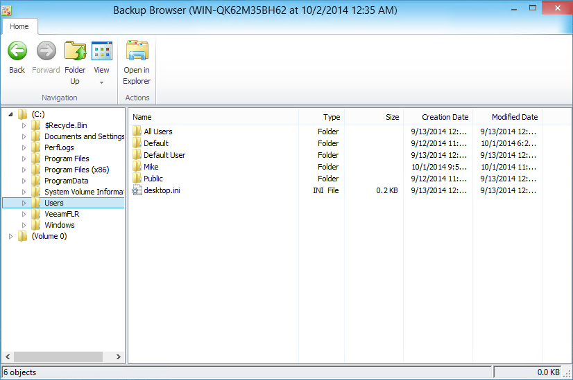 Backup Browser and its possibilities to recover range from simple files, volume restore or bare metal recovery.