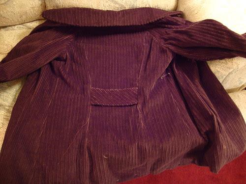 Simplicity 2508  in progress back of jacket