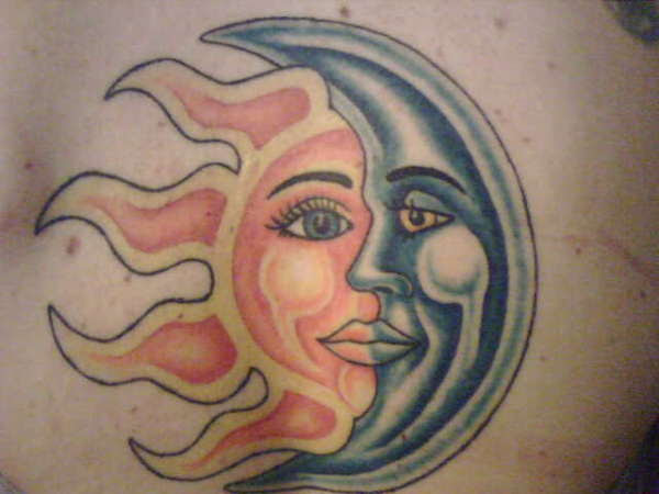 sun moon star tattoos. sun moon star tattoos