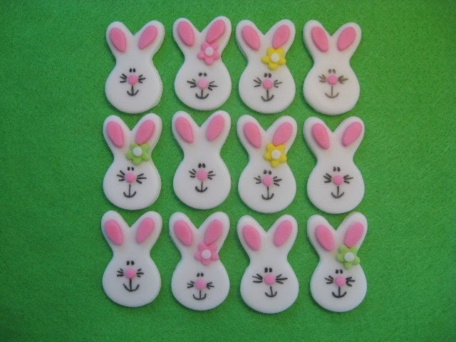 easter cupcakes fondant. Easter Bunny Cupcake Toppers
