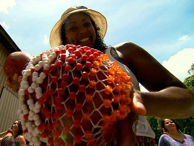 Bloco Bainas Ozadas prepara desfile do carnaval em ensaios (Foto: Reprodução/TV Globo)