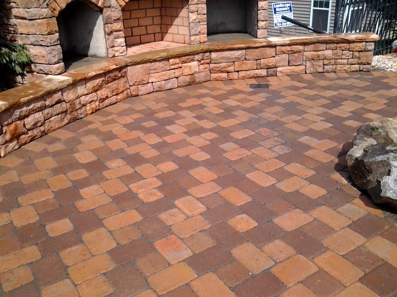 brown concrete paver patio | Charlotte Pavers & Stone ...