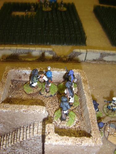 Fire exchanged as British advance through Poppy Fields