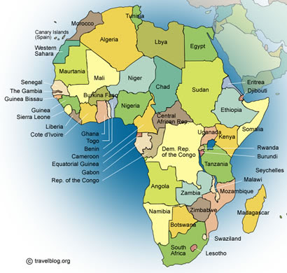 Map Of Africa With Other Continents Inside   Africa Map