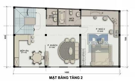 Thiết kế nhà ở kết hợp kinh doanh trên đất hình thang vuông | ảnh 2