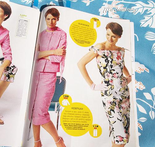 Burda Style, Moden, retro, vintage, sewing, szycie, karawiectwo, blog, marchewkowa, wykroje, lata 50/60