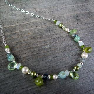 green bridesmaid necklace