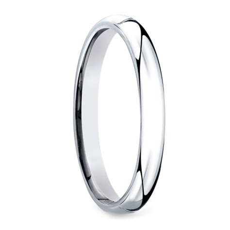 Mid Weight Men's Wedding Ring in Platinum (3mm)