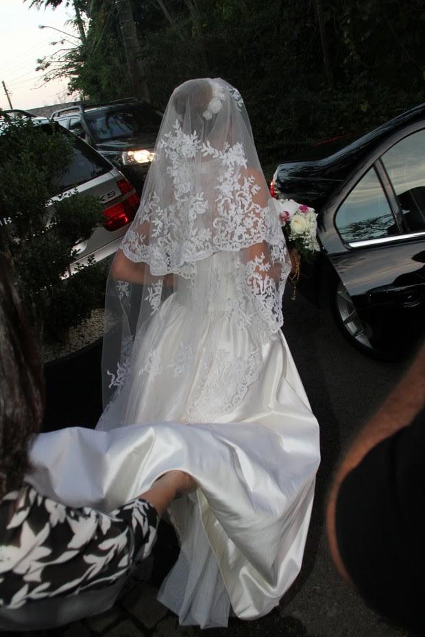 Roberta, noiva de Marcelo Serrado (Foto: Dilson Silva/ Ag. News)